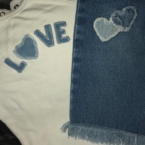 💙New Infants Girls 2piece Top/Matching Blue Jeans